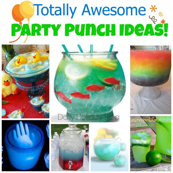 Fabulous recipes and ideas for party punch that will be the talk of the party! These are amazing!