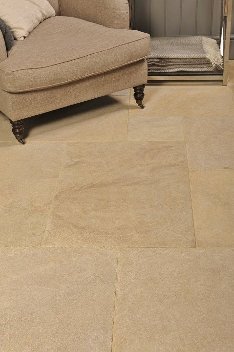 We Love The Warm Glow Of These Flagstones In This Stylish Country Living Room Flagstone FlooringNatural Stone