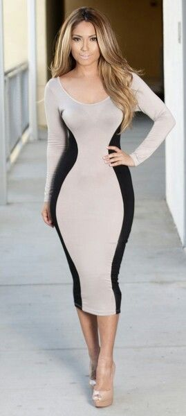 Absolutely LOVE the blocking on this dress!!