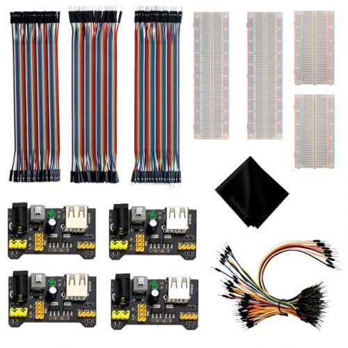 UniHobby Experiment Mini Breadboard Kits with MB102 Breadboard Power Supply Module and Breadboard Jumper Wires for Arduino Starter Kit Raspberry Pi.