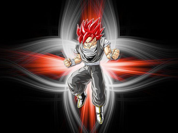 Dibujo De Goku Super Sayayin Dios Fase 5 Pintado Por En: 9 Best Images About Imágenes De Goku :3 On Pinterest
