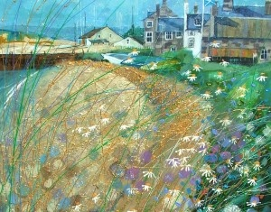 Bejewelled Beach, Findhorn by Deborah Phillips available to buy online at The Leith Gallery, Edinburgh, Scotland