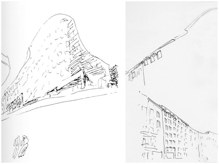Alvaro Siza: sketches for Bonjour Tristesse