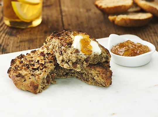 Teff-scones. För veganskt, byt ut filmjölken och smör mot veganska produkter. #glutenfritt