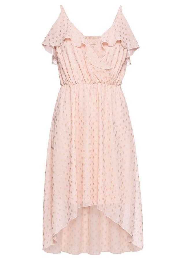 Šaty s metalickou potlačou • ružová zlatá • bonprix obchod ... 58cf26cd2ab