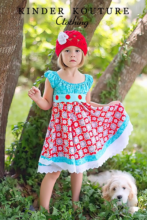 Handmade dress- Fabric by The Quilted Fish for Riley Blake Designs!  #sugarandspice #quiltedfish #rileyblakedesigns