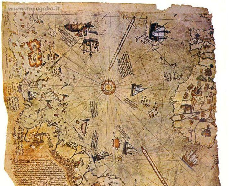 La mappa di Piri Reis La strana storia della carta è cominciata nel 1929 a Istanbul, che allora si chiamava Costantinopoli, quando venne...