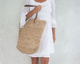 Große Stroh-Tasche, Strandtasche Stroh, Stroh-Tasche