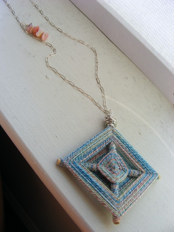Ojo de Dios necklace. $22.00