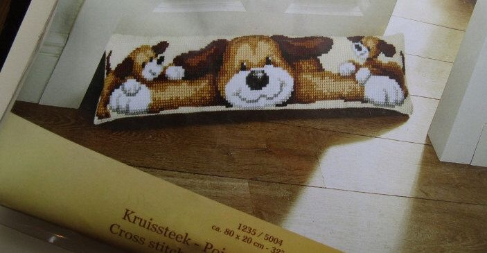 A personal favourite from my Etsy shop https://www.etsy.com/ie/listing/481359755/cross-stitch-draught-excluder-kit-dog