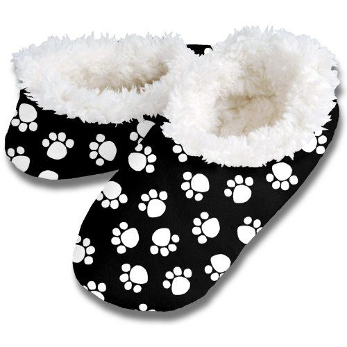 Snoozies Womens Fleece Lined Footies, Dog Paw Prints Black and White Footie (Small, Black and White) Snoozies http://www.amazon.com/dp/B00ACDVI9C/ref=cm_sw_r_pi_dp_k89yub0VADSJS