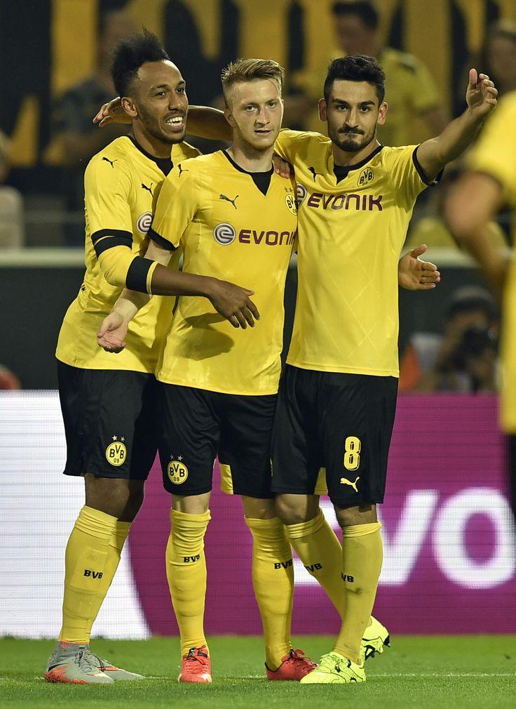 """Come at us"" Aubameyang, Reus, and Gündogan"