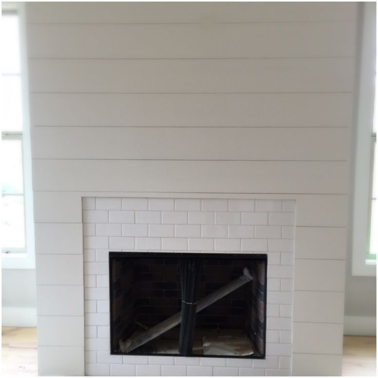 Fireplace White Fireplace Tile And Shiplap Fireplace Subway Tile