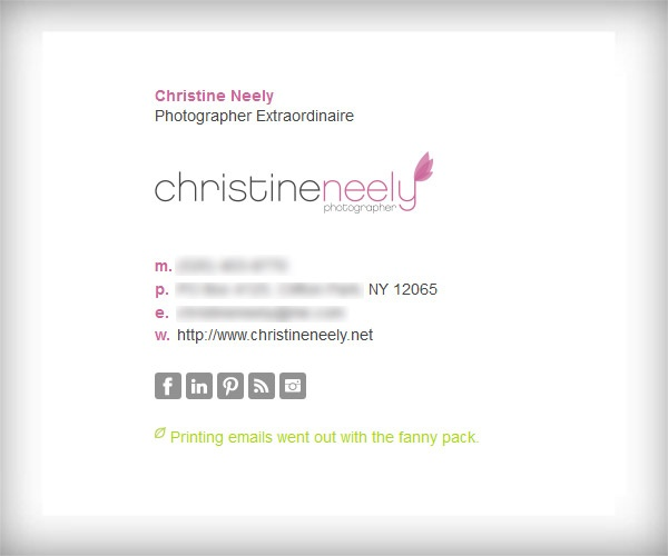 17 best images about web design email signature on for Interior design email