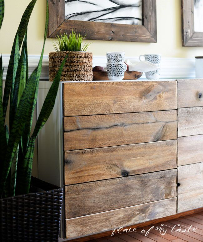 Reclaimed wood buffet malm make over pinterest bu - Buffet metallique ikea ...