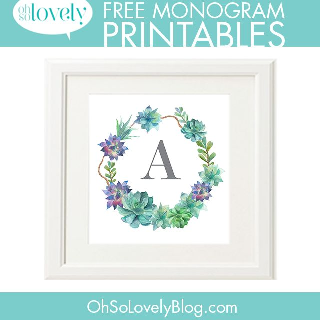 Best 25+ Free printable monogram ideas on Pinterest | Printable ...