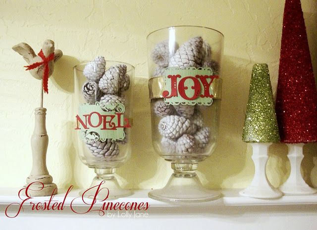 Christmas: Christmas Diy, Holiday Ideas, Christmas Crafts, Frosted Pinecones, Diy Crafts, Christmas Decorations, Christmas Ideas, Diy Christmas Decor Jpg