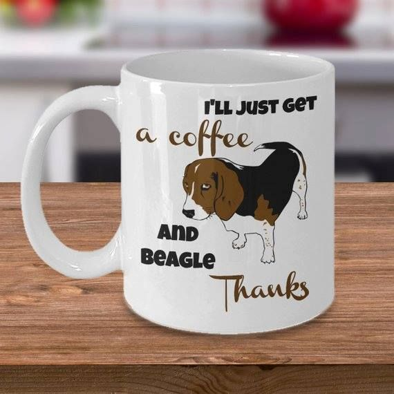 Cute Beagle Mug Funny Beagle Coffee Mug It Was A Ruff Day Beagle