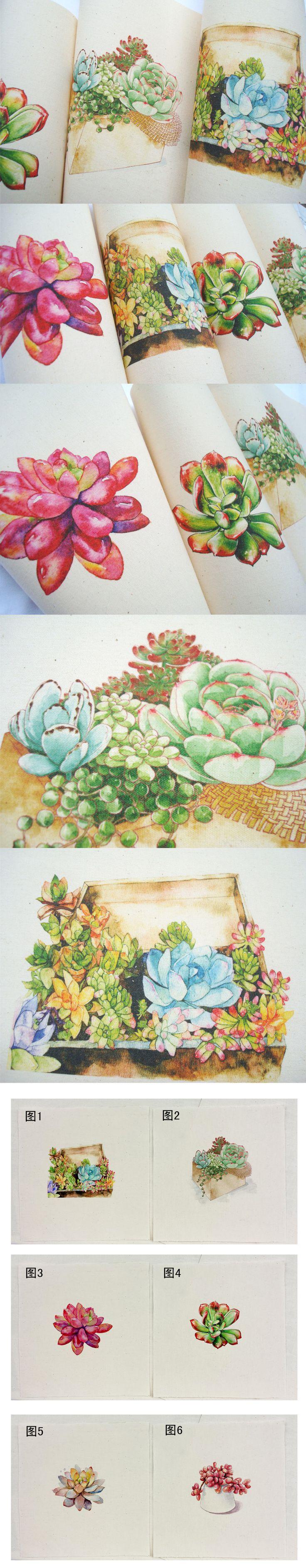 Лоскутная DIY ручной работы Холст Ткань крашения суккуленты ручной окрашенные хлопковый холст напечатаны на холсте [картофель] - Taobao