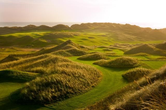 trump golf court, Scotland. Another look.  It looks like you might want to bring a couple dozen golf balls for this one!