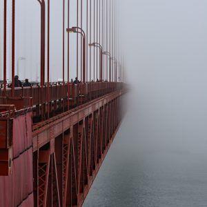 Otulony mgłą - Golden Gate Bridge
