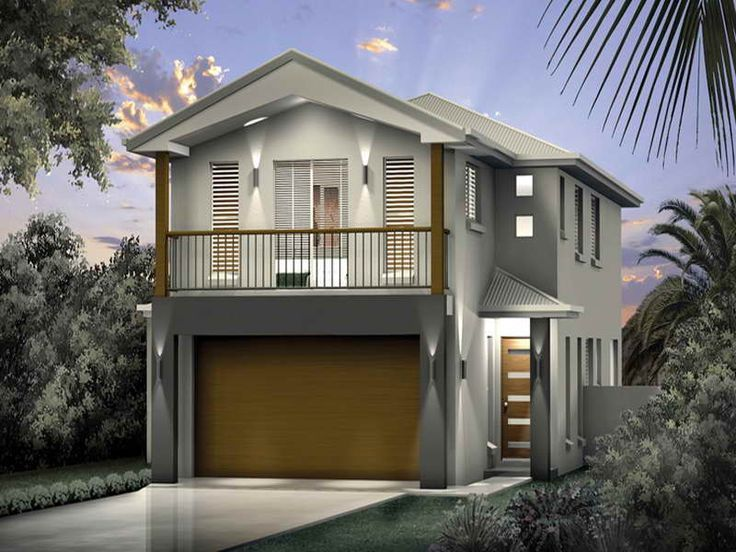 25 best ideas about narrow lot house plans on pinterest for Contemporary house plans for narrow lots