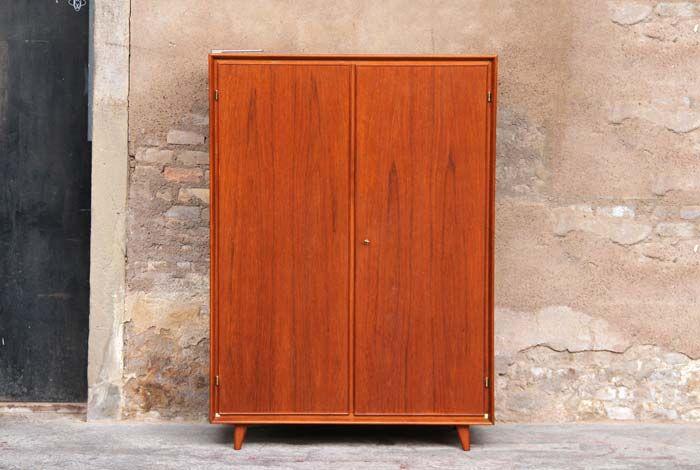 armoire penderie vintage en teck 580 let me take you home pinterest gentleman. Black Bedroom Furniture Sets. Home Design Ideas