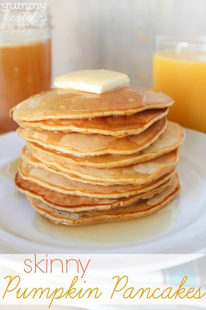 Skinny Pumpkin Pancakes at http://therecipecritic.com  Delicious pumpkin pancakes that are healthier for you and amazing!