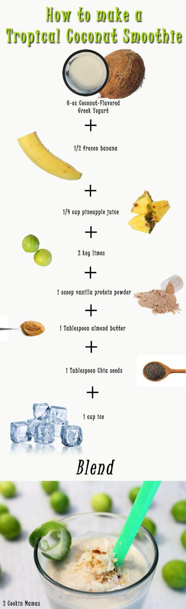 Wie man einen tropischen Kokosnuss – Smoothie macht 2 Cookin Mamas #rezept #gesund   – Fave Recipes