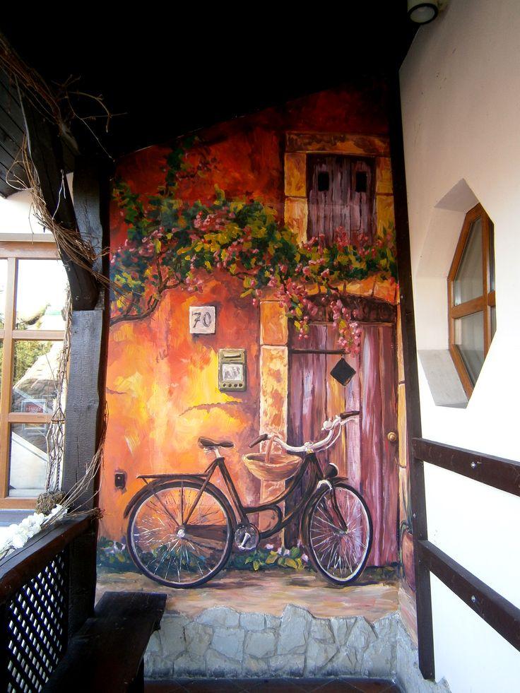 Роспись стен велосипед