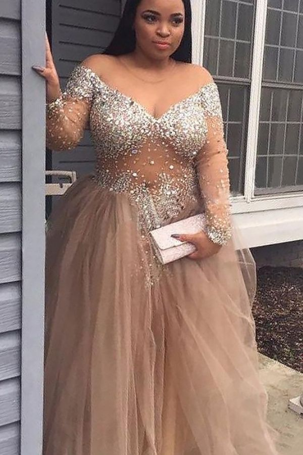 437eca1145f  168.00 - Ball Gown Off-the-Shoulder Floor-Length Champagne Prom Dresses -  Prom  Dresses -  VeroElla Online Spring