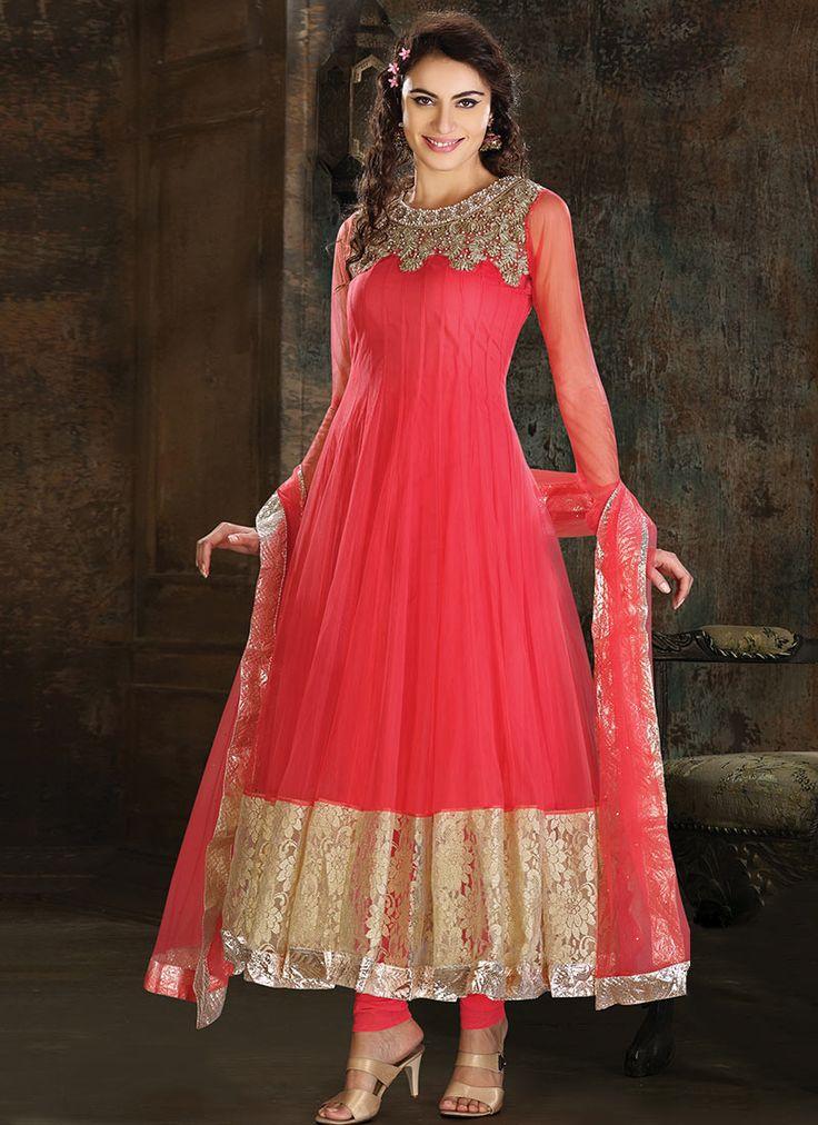 Enticing Net Anarkali Suit