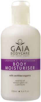 Body moisturiser, Lavendel - Mjukgörande organiska oljor från bla vetegroddar, liksom organisk ringblomma och ginseng som hjälper till att upprätthålla hudens naturliga fuktbalans, elasticitet och hudton.