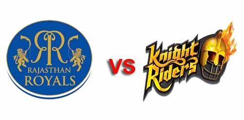 Rajasthan Royals vs Kolkata Knight Riders logo Kolkata Knight Riders vs Rajasthan Royals 47th Match Live Scorecard May 3 2013 IPL 6