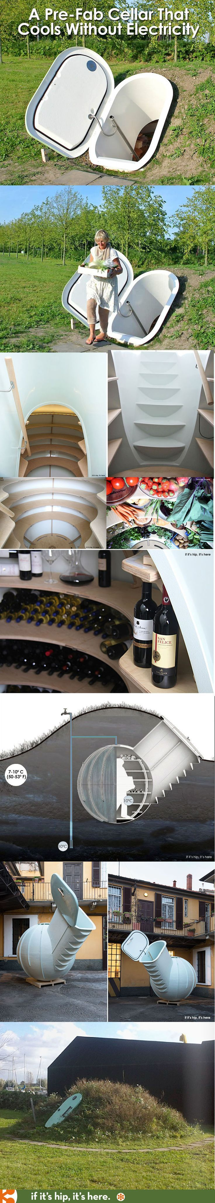 The Groundfridge will store as much as 20 refrigerators underground without using electricity.