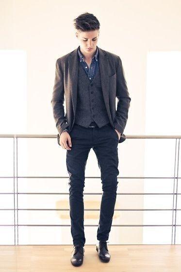 No LDJ: Camisa Jeans Com Colete