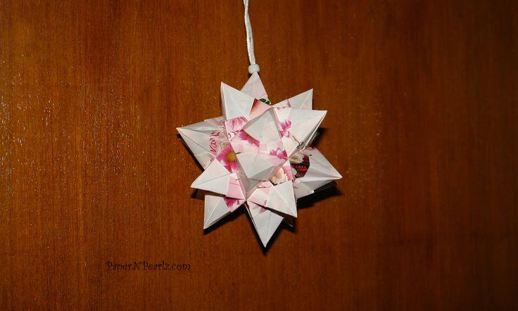 Nick Robinson's #origami spiked icosahedron