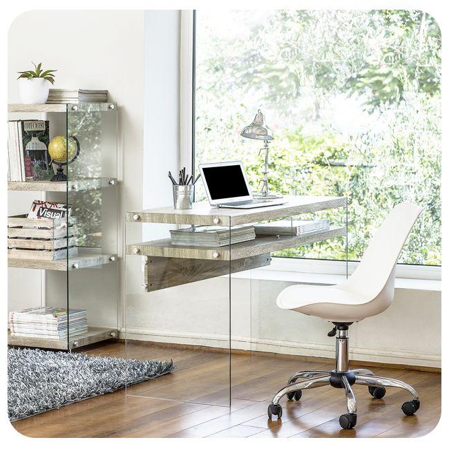 14 best escritorios en vidrio images on pinterest glass for Escritorio de vidrio