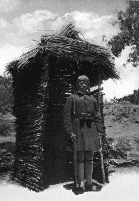 Μακεδονία, φρουρός σε φυλάκιο, 1913