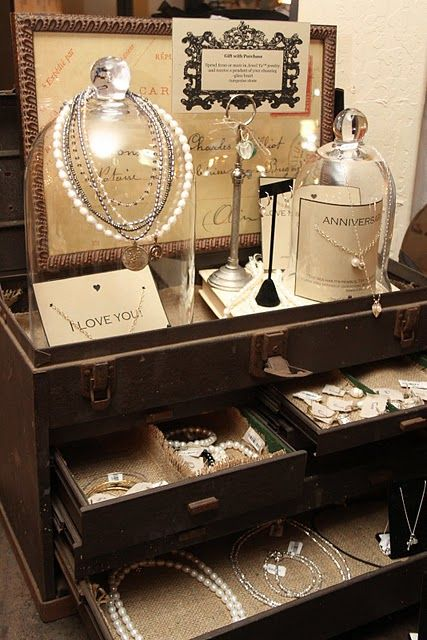 If you ever find that perfect dresser  at an antique shop and the drawers are all messed up inside ... just clean them and line them with burlap!