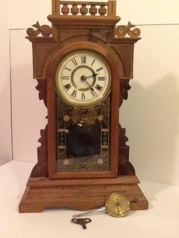 This clock runs good and the only problem I see is what looks like a stain at the top. Posted with eBay Mobile