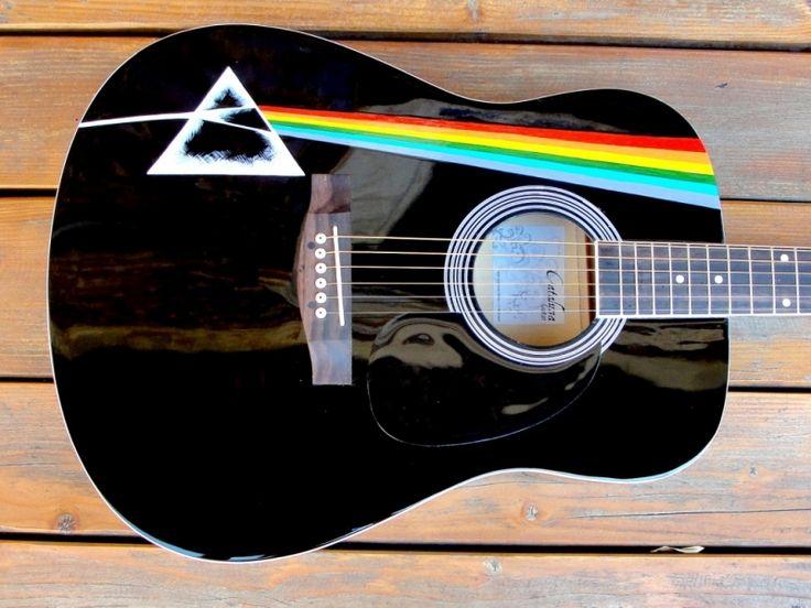 """Chitara+acustica+pictata+""""Pink+Floyd"""""""