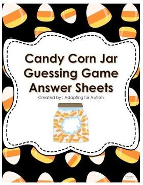 """FREE MATH LESSON - """"Halloween Party Game: Guess the Number of Candies in the Jar [Answer Sheets]"""" - Go to The Best of Teacher Entrepreneurs for this and hundreds of free lessons.  Kindergarten - 5th Grade   #FreeLesson  #Math  #Halloween  http://www.thebestofteacherentrepreneurs.net/2014/09/free-math-lesson-halloween-party-game.html"""