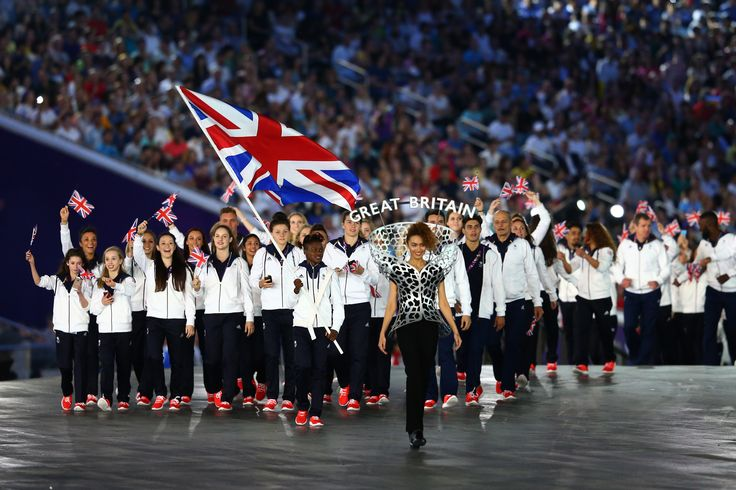 Olympic Champion Nicola Adams leading out Great Britain at the Opening Ceremony during the European Games in Baku 2015