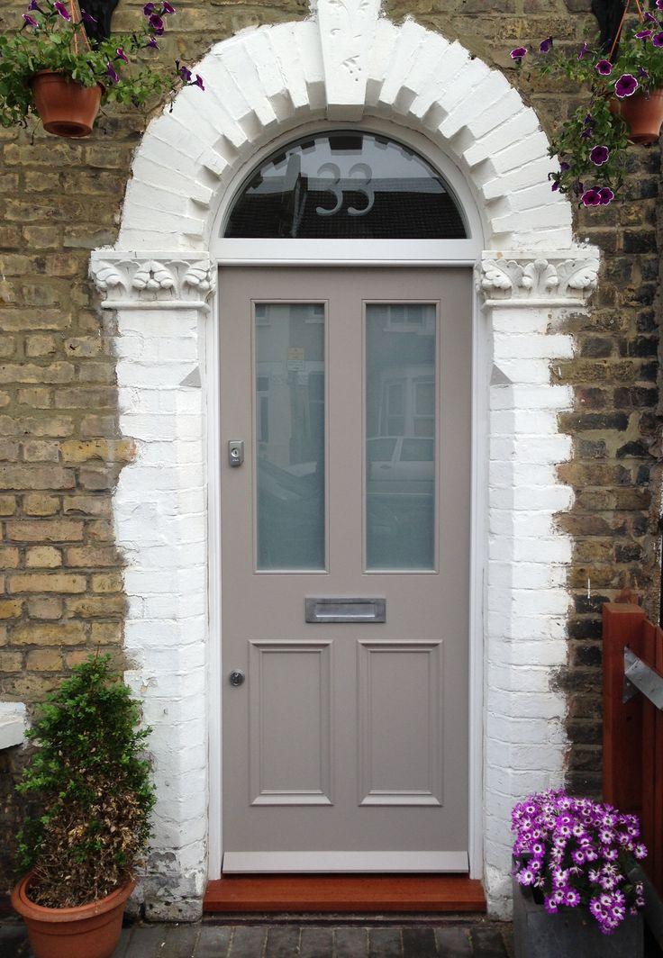 Pretty Victorian Front Door & Fanlight in South London