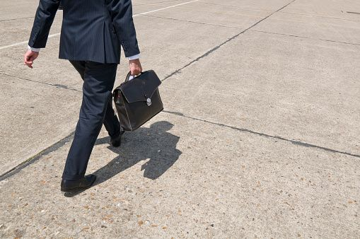 Walking for a business meeting