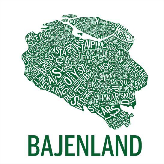 Print Bajenland i färgen hemma