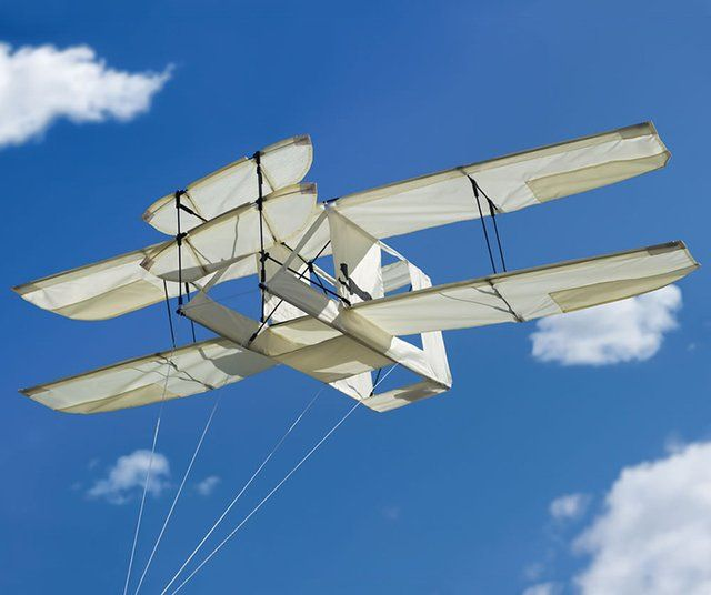 The Kitty Hawk Kite replicates the unique canard biplane design of the original Wright Flyer from 1903. Great gift for dad.