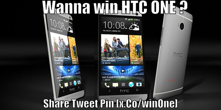 Win HTC One . For the first time HTC One is on the line in online market as contest gift . For more visit : x.co/winone