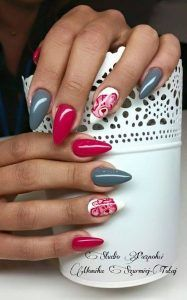 cute almond nail designs @GirlterestMag